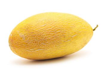 Fresh yellow melon isolated