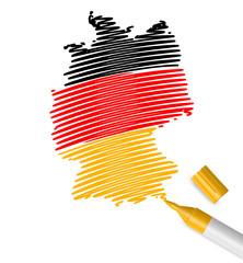 schraffiert deutschland karte I