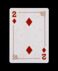 Spielkarten - Poker - Karo Zwei im Spiel