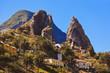 Leinwandbild Motiv Hermigua valley in La Gomera island - Canary