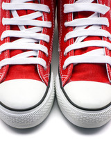 zapatillas de deporte rojas