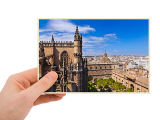 Sevilla Spain photography in hand