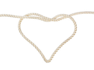 Heart shaped knot on a rope