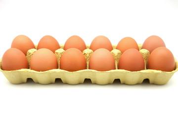 docena de huevos de gallina