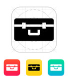 Box for quadcopter icon. poster