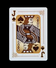 Spielkarten - Poker - Pik Bube im Spiel