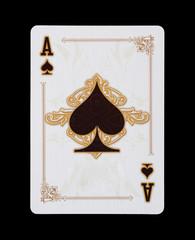 Spielkarten - Poker - Pik Ass im Spiel