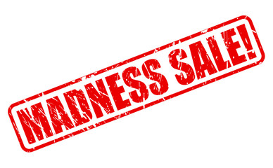 Madness sale red stamp text