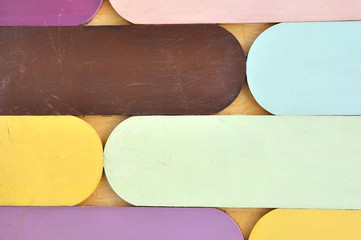Colorful wooden wall for web background