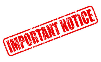 Important notice red stamp text