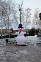Buzuluk, Russia - December 23, 2014. Elegant Christmas tree in t