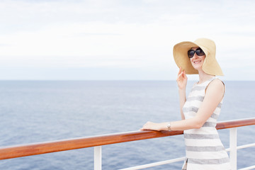 woman at cruise ship