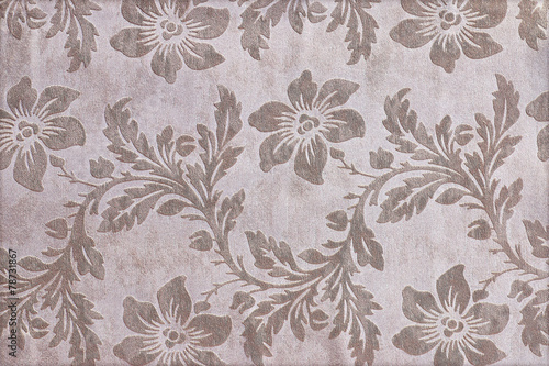 Fragment of tapestry pattern with floral background © modify260