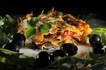 Clover and  Lasagna St.Patricks day dish Irish-Italian style