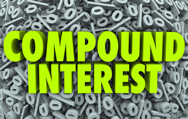 Compound Interest Percent Signs Symbols Earning Saving Money Inv
