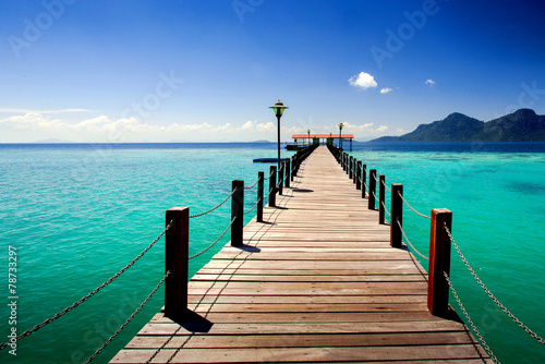 jetty provided on an island for tourists © azizhjyaras