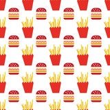 hamburger and fries pattern