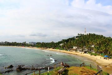 Пляж Мирисса и смотровая площадка на скале, Шри-Ланка