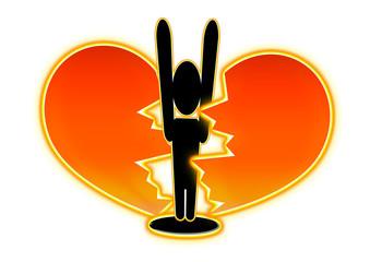 Durchbruch - Piktogramm / Herz