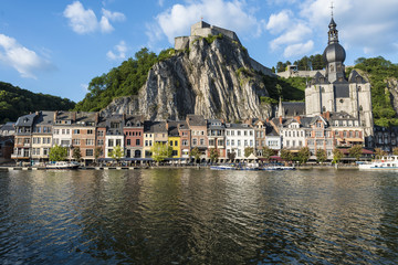 Meuse River passing through Dinant, Belgium.