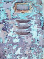 Old rusty lockers