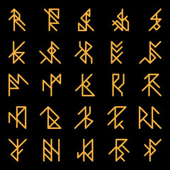 Set of abstract ancient runes