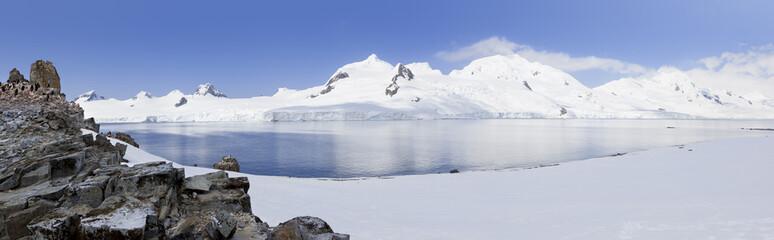 Antarctica panorama of Halfmoon Island
