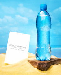 Summer Business template. Bottle of water