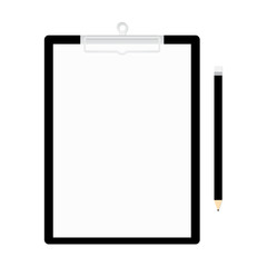 Clipboard and pencil vector illustration
