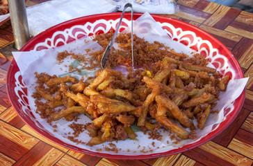Deep fried pumpkin thai style