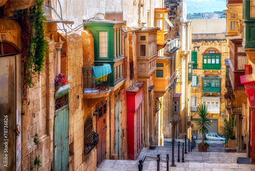 Street of Valletta town - 78736826