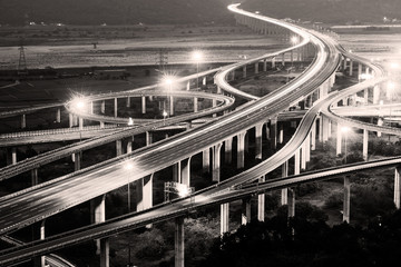 Architecture of highway construction  in Taiwan, Asia.