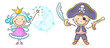 Pirate and fairy costumes - 78737491