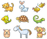 Cartoon pet animals