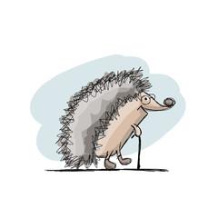 Funny hedgehog, sketch for your design