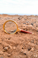 Magnify Glass Abandoned On The Desert