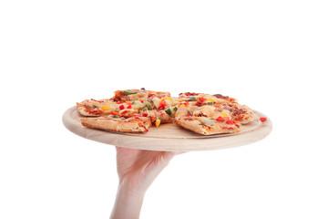 Lieferservice bringt Pizza