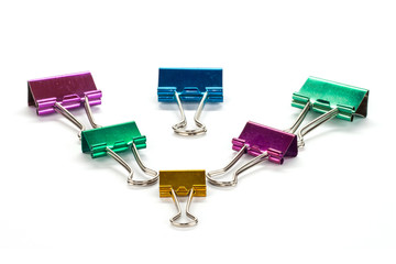 Colorful binder clip