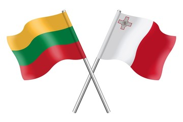 Flags: Lithuania and Malta