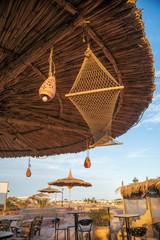 Umbrellas on the beach of Sharm el sheikh