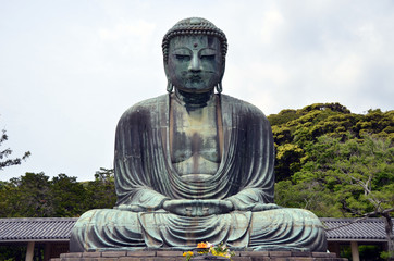 Japan, Kamakura, Great Buddha statue, front view