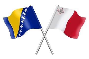 Flags: Bosnia-Herzegovina and Malta