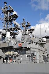 Bridge of destroyer, JMSDF,Hiroshima
