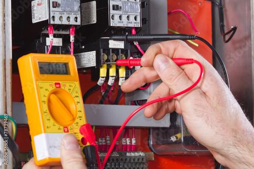 Leinwandbild Motiv electrician