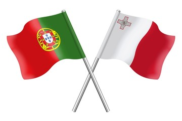 Flags: Portugal and Malta