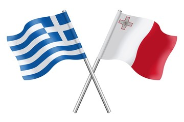 Flags: Greece and Malta
