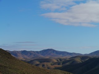 Mountains of Cardon on Fuerteventura in morning light