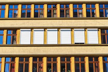 Windows of a school building