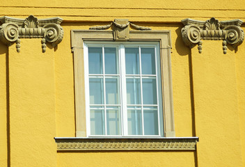 Ornate window of an old building