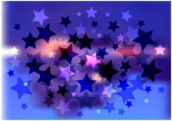 glittering vector background with stars
